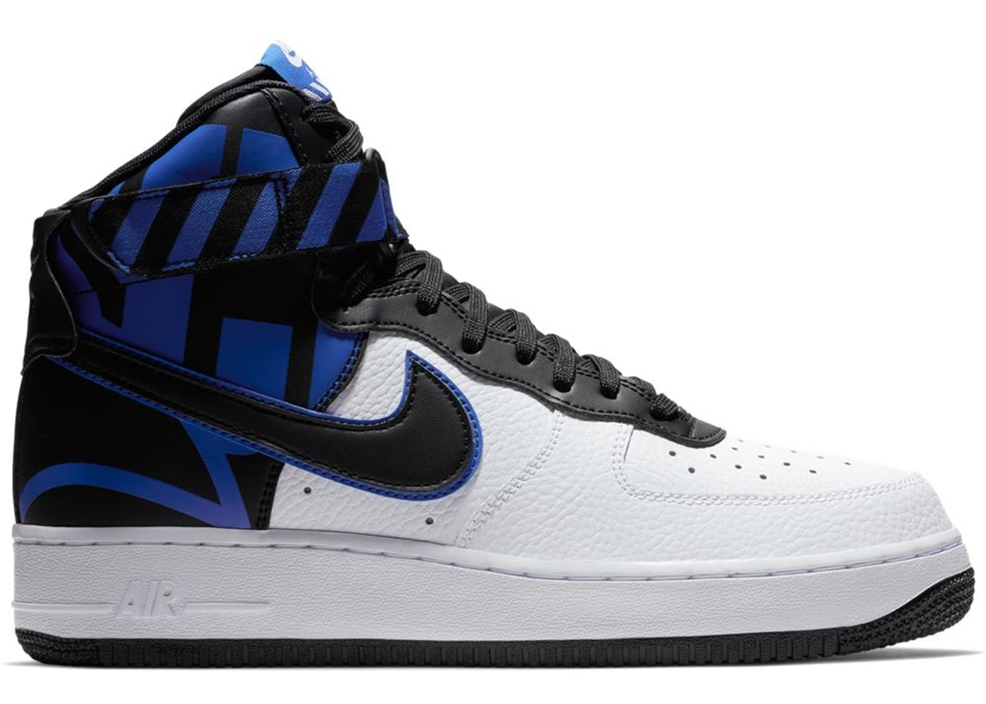 Nike Air Force 1 High Force Logo White Black Royal 806403 104