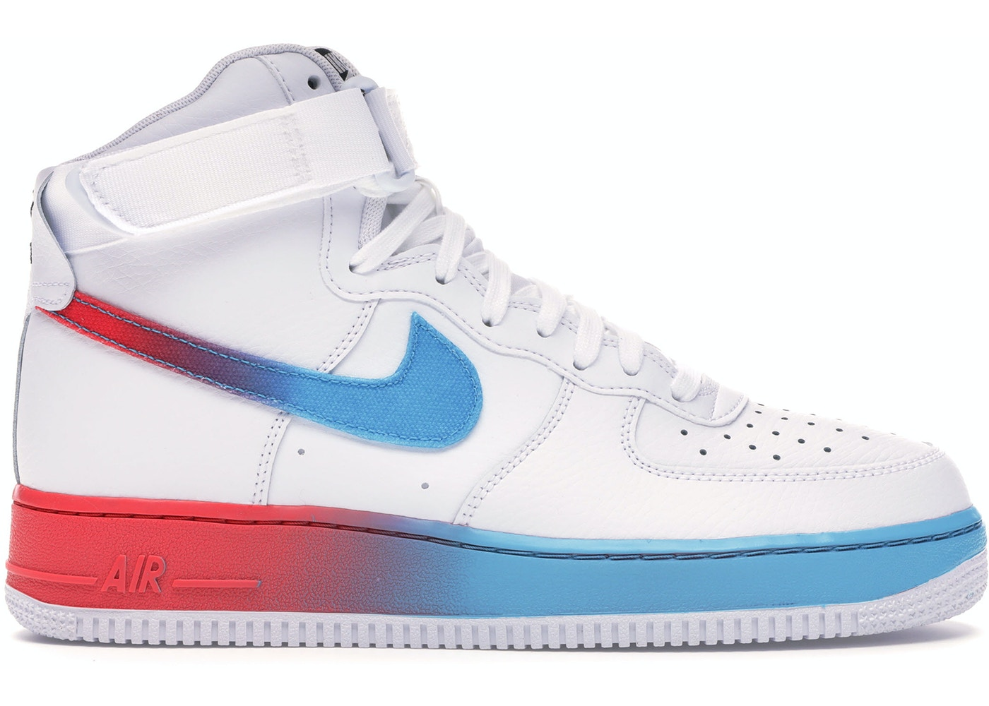 factory price 163cb 07622 Air Force 1 High Gradient White Blue Fury Ember Glow