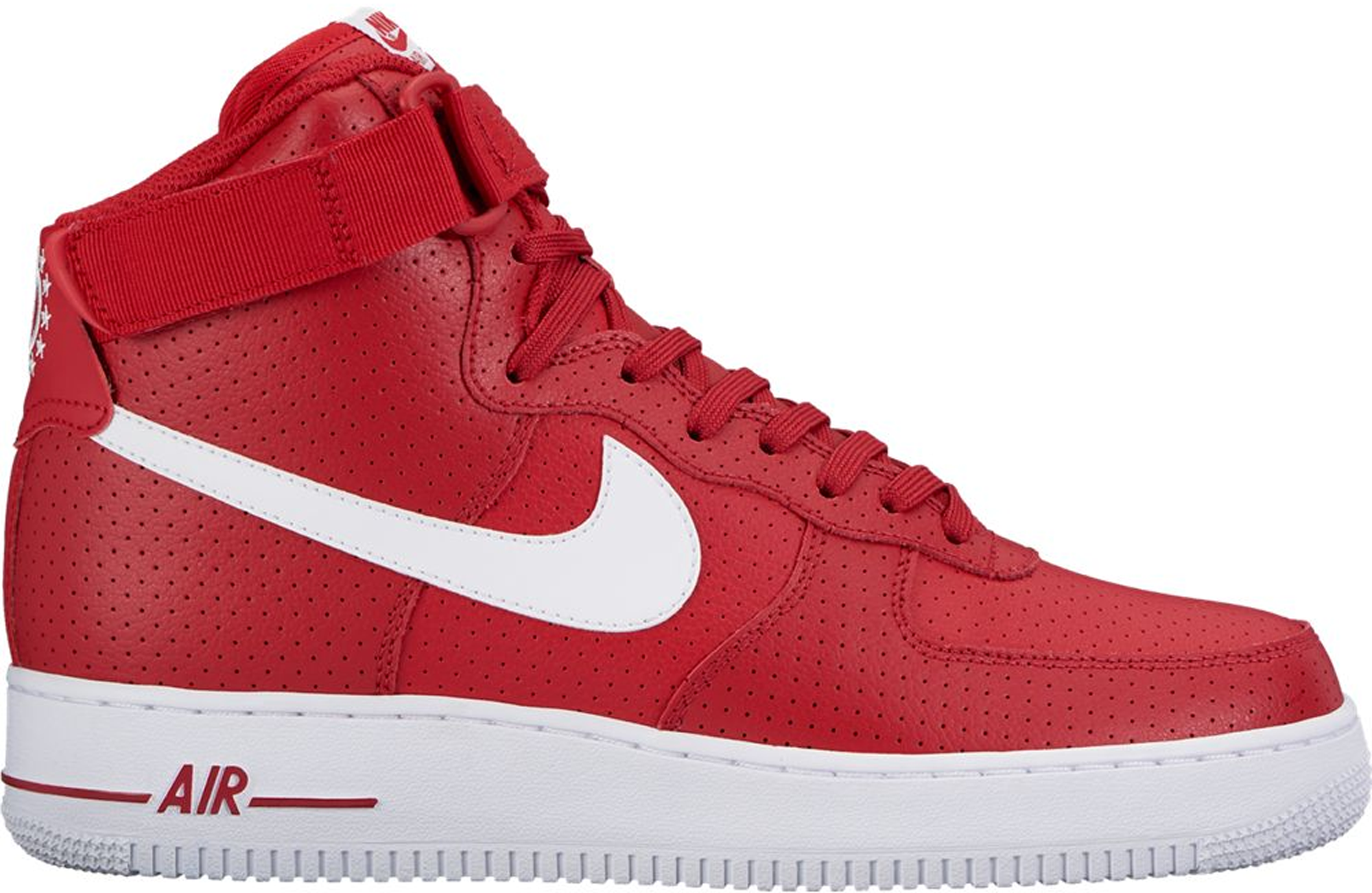 red black high top air force ones