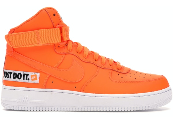Devorar Prematuro Lucro  Nike Air Force 1 High Just Do It Pack Orange - BQ6474-800