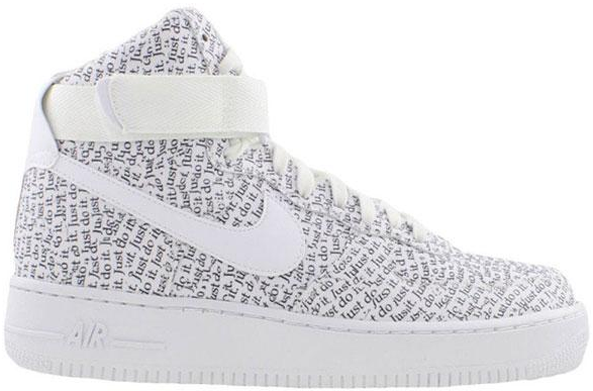 nike air force just do it white