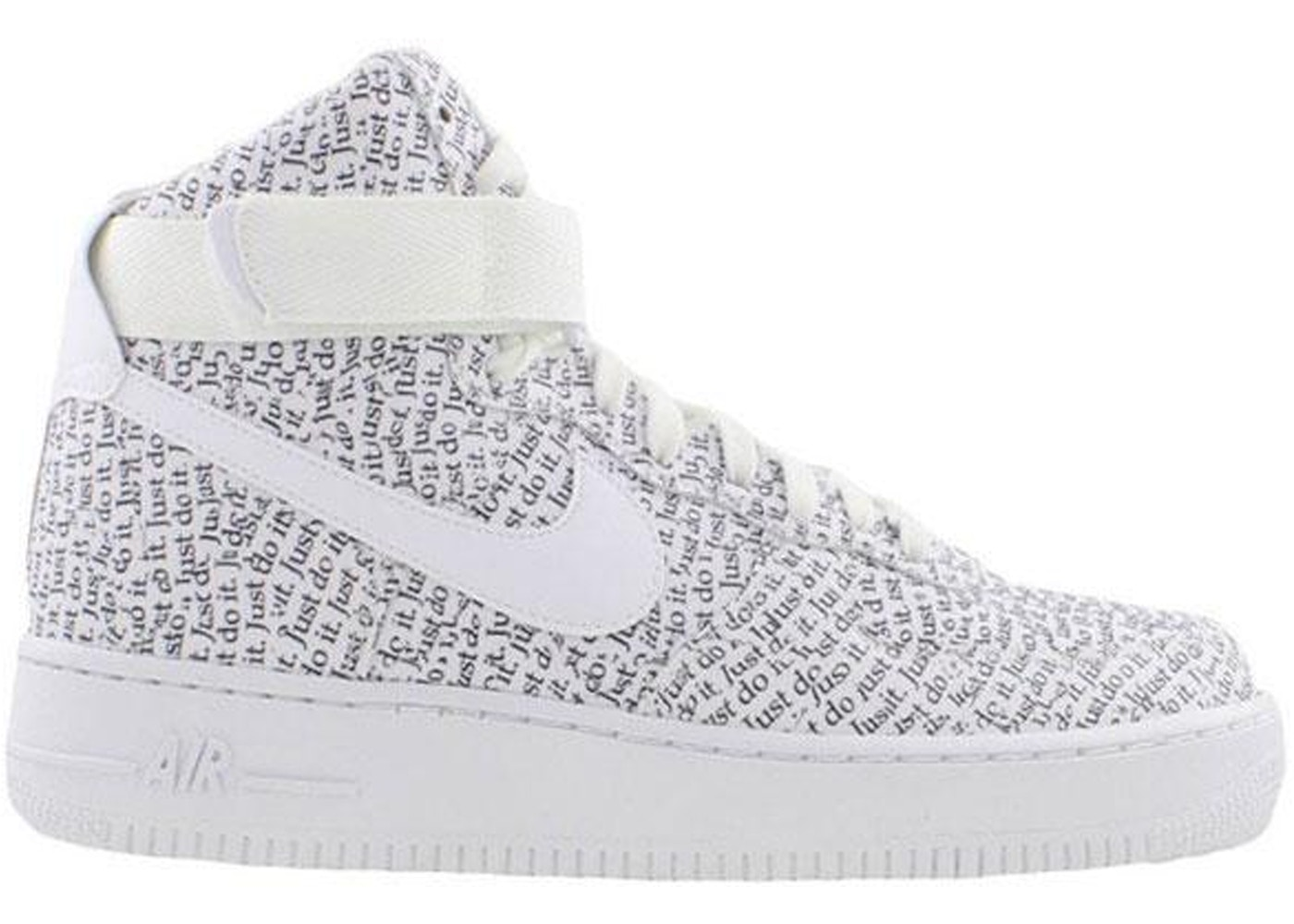 Air Force 1 High Just Do It Pack White Black