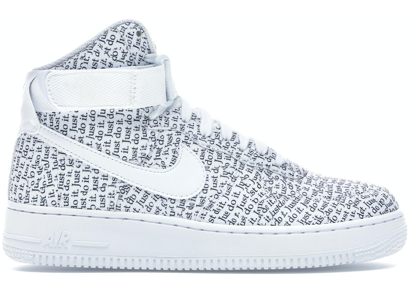Interacción tornillo esposa  Nike Air Force 1 High Just Do It Pack White (W) - AO5138-100