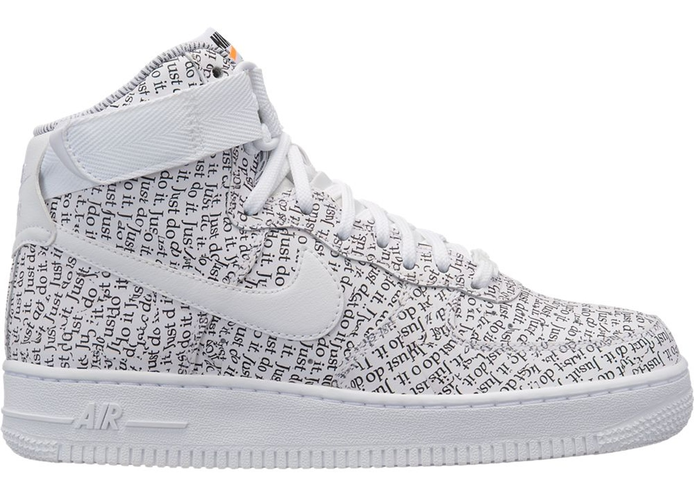 a3e5fe1bfa03 Sell. or Ask. Size: 8W. View All Bids. Air Force 1 High Just Do It Pack  White ...