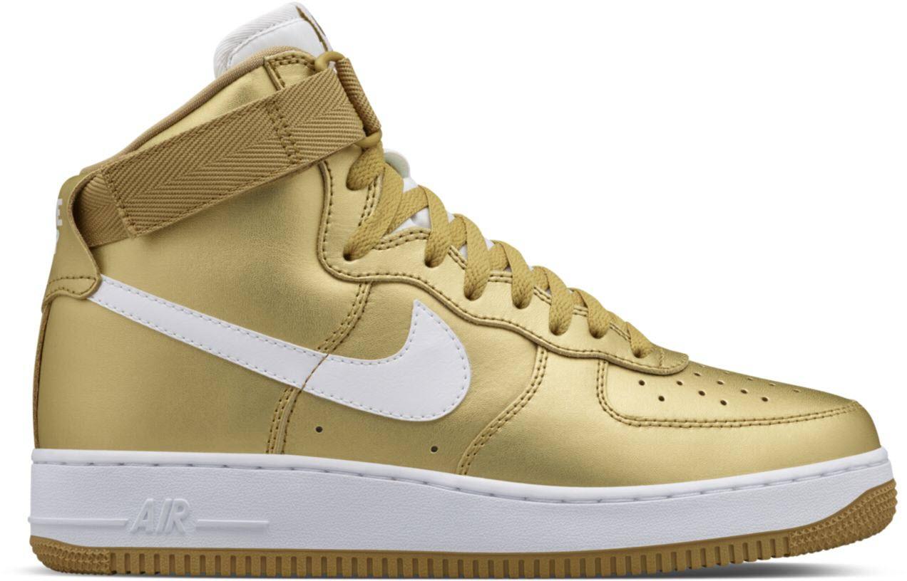 Nike Air Force 1 High QS Metallic Gold |