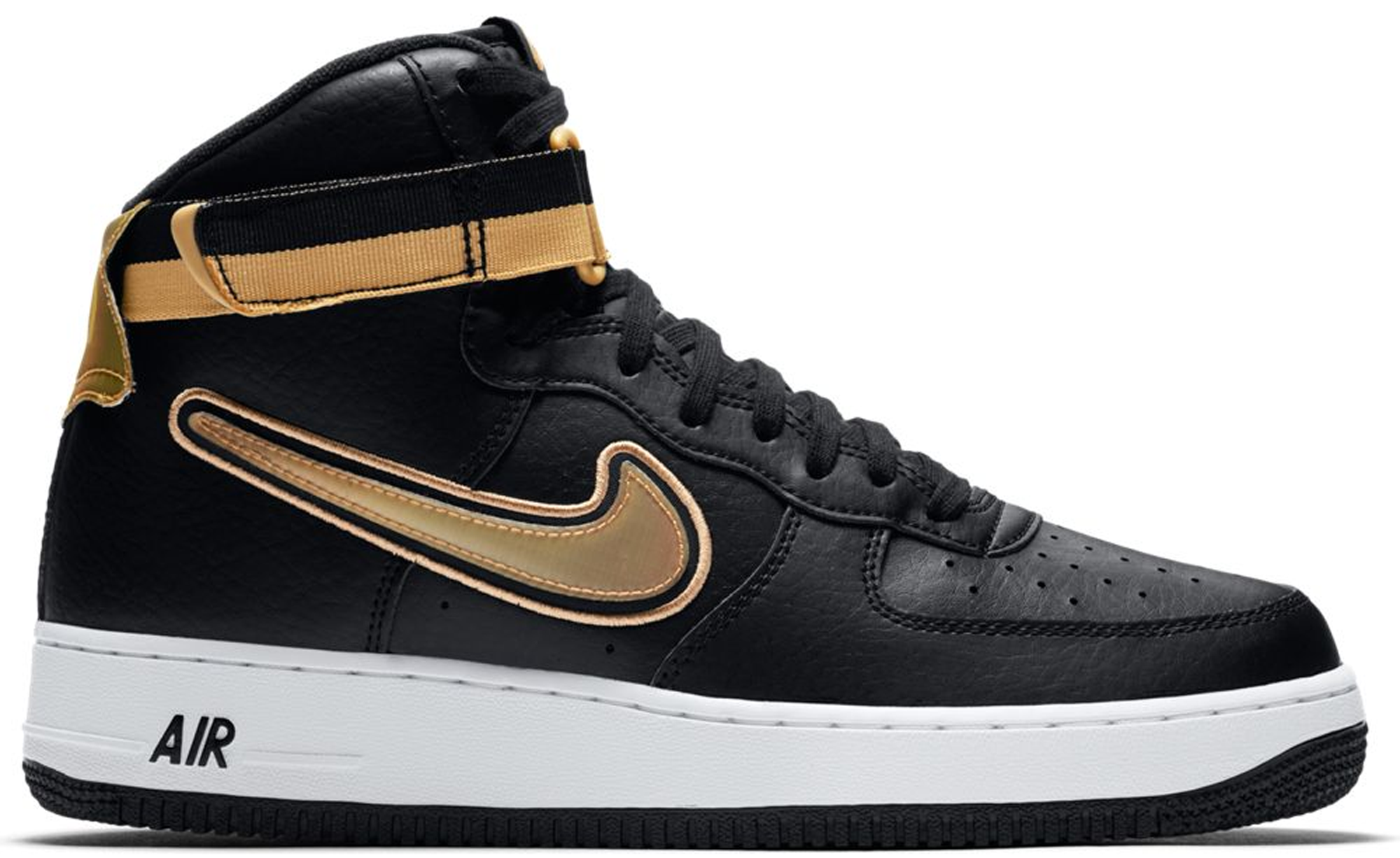 Air Force 1 High NBA Black Metallic Gold
