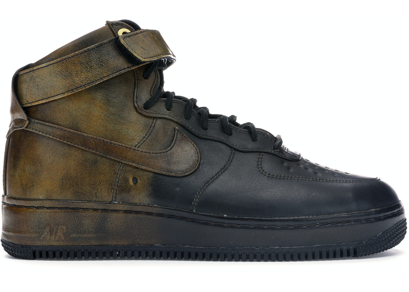 Air Force 1 High Pigalle Black Gold 677129 090