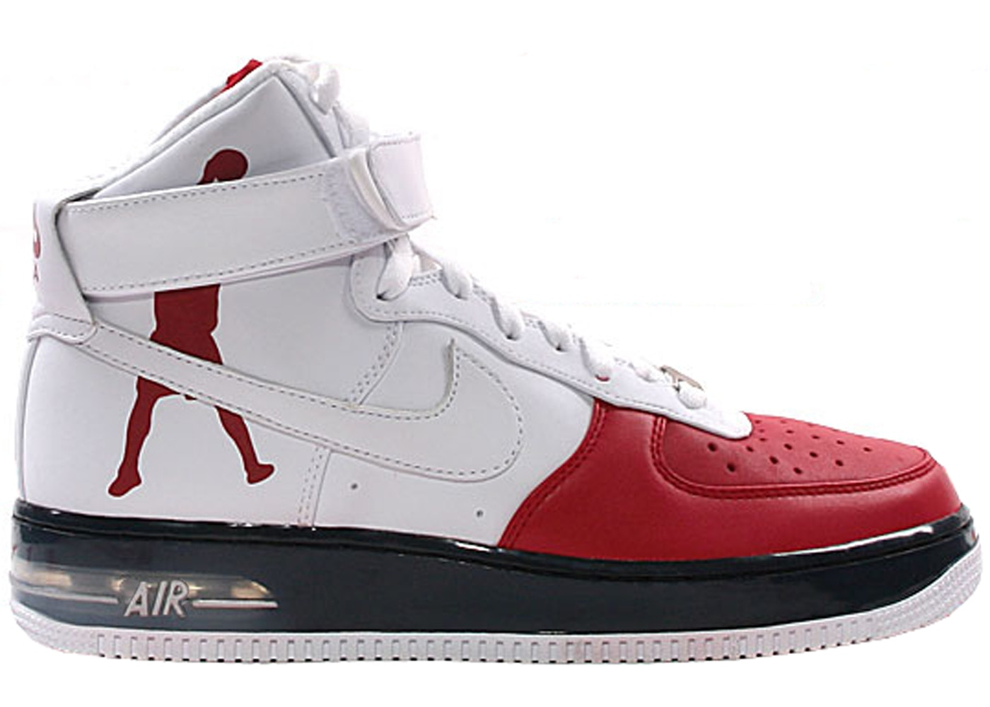 Nike Air Force 1 High Sheed Red White Black 335844 611