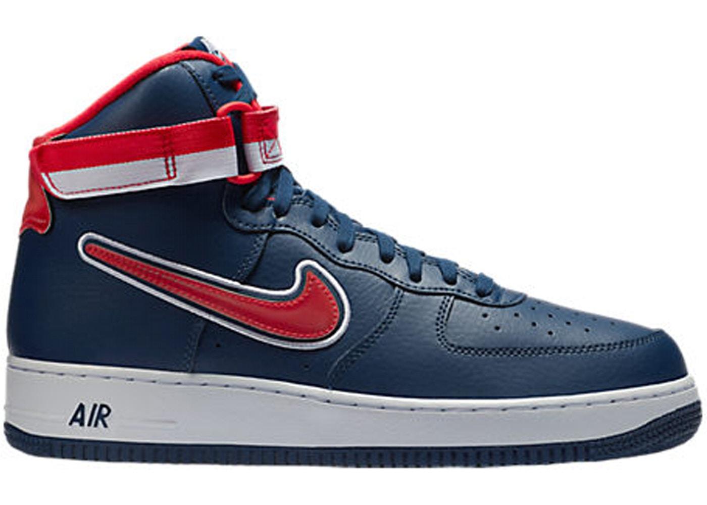 Nike Air Force 1 High Sport Nba Midnight Navy University Red