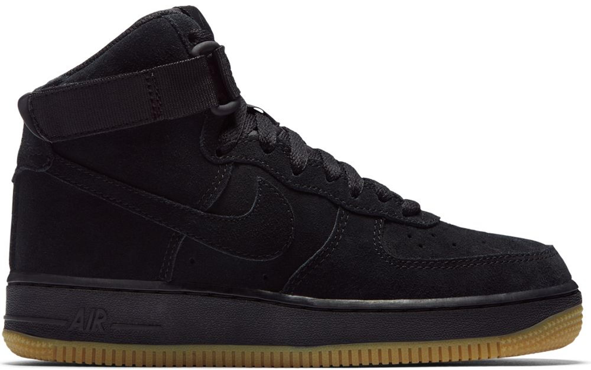 Nike Air Force 1 High Suede Black Gum