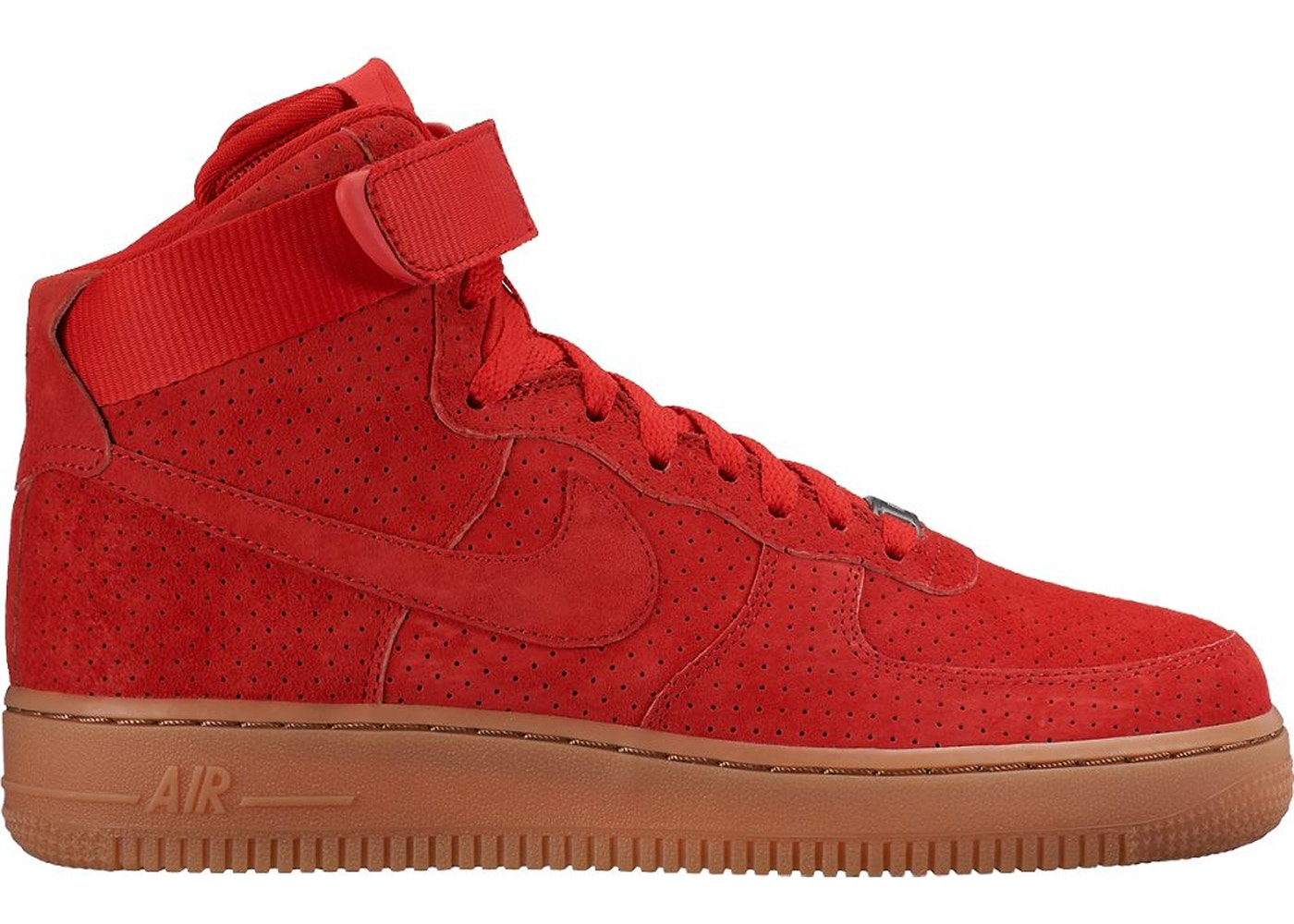 air force 1 high top red