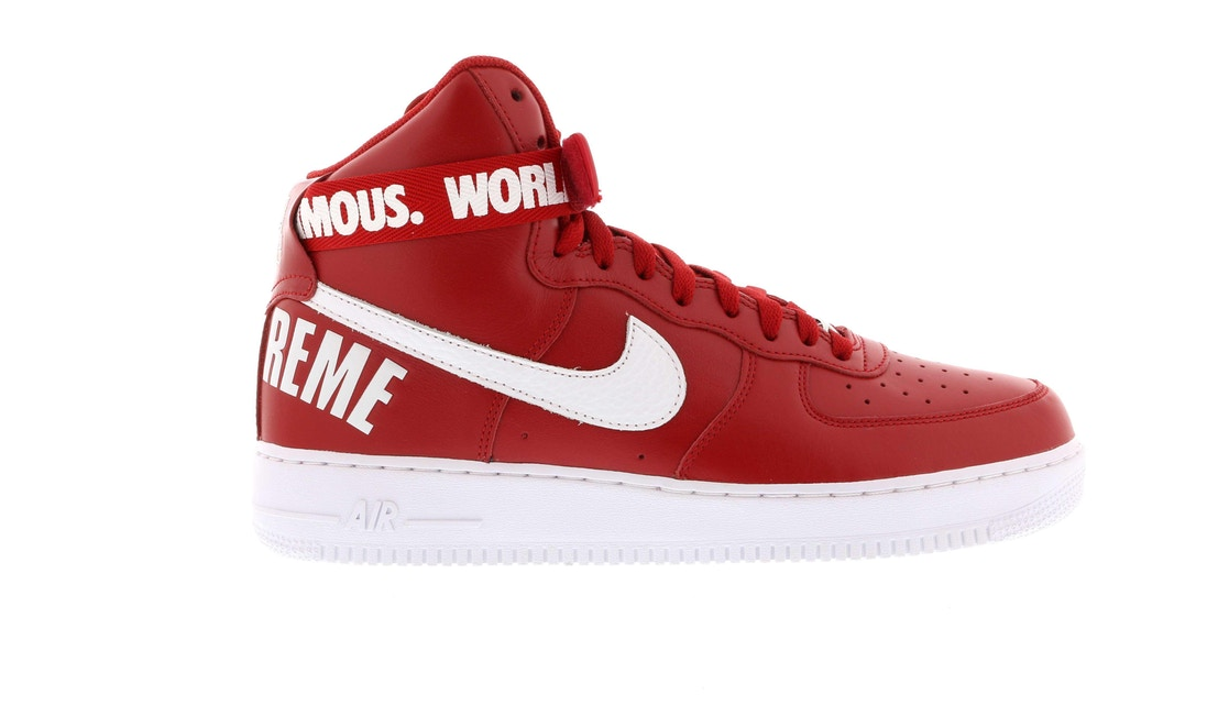 Nike Air Force 1 High Supreme World Famous Red