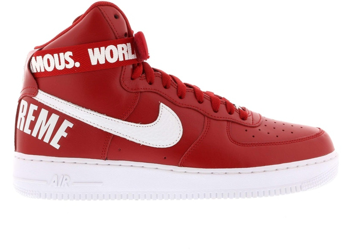 1b8270c8eb7f Air Force 1 High Supreme World Famous Red - 698696-610