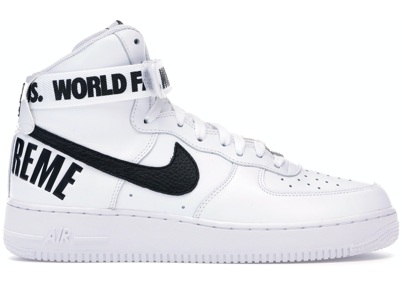 pick up 04c33 082e7 Air Force 1 High Supreme World Famous White