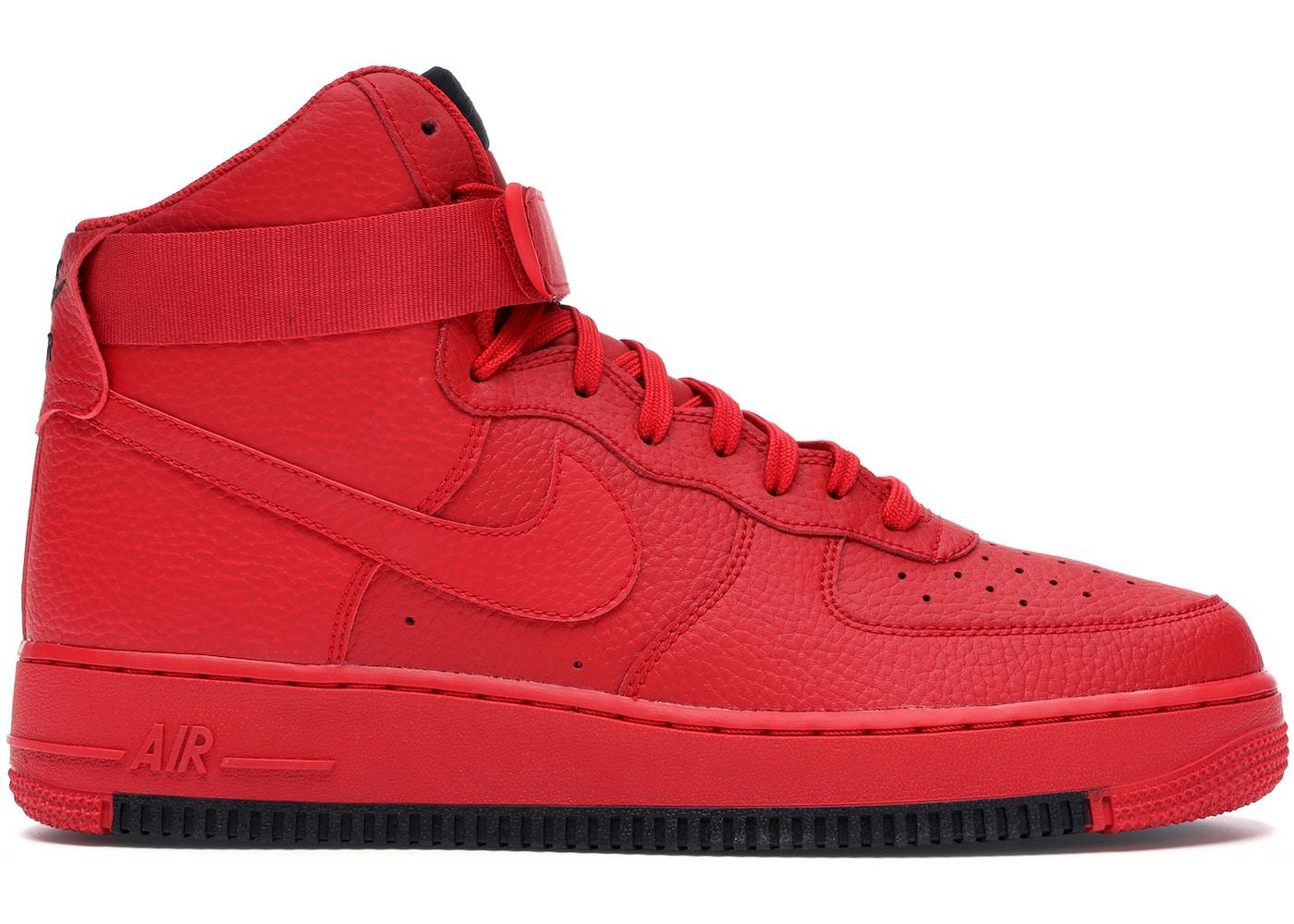 Nike Air Force 1 High University Red Black Ao2440 600