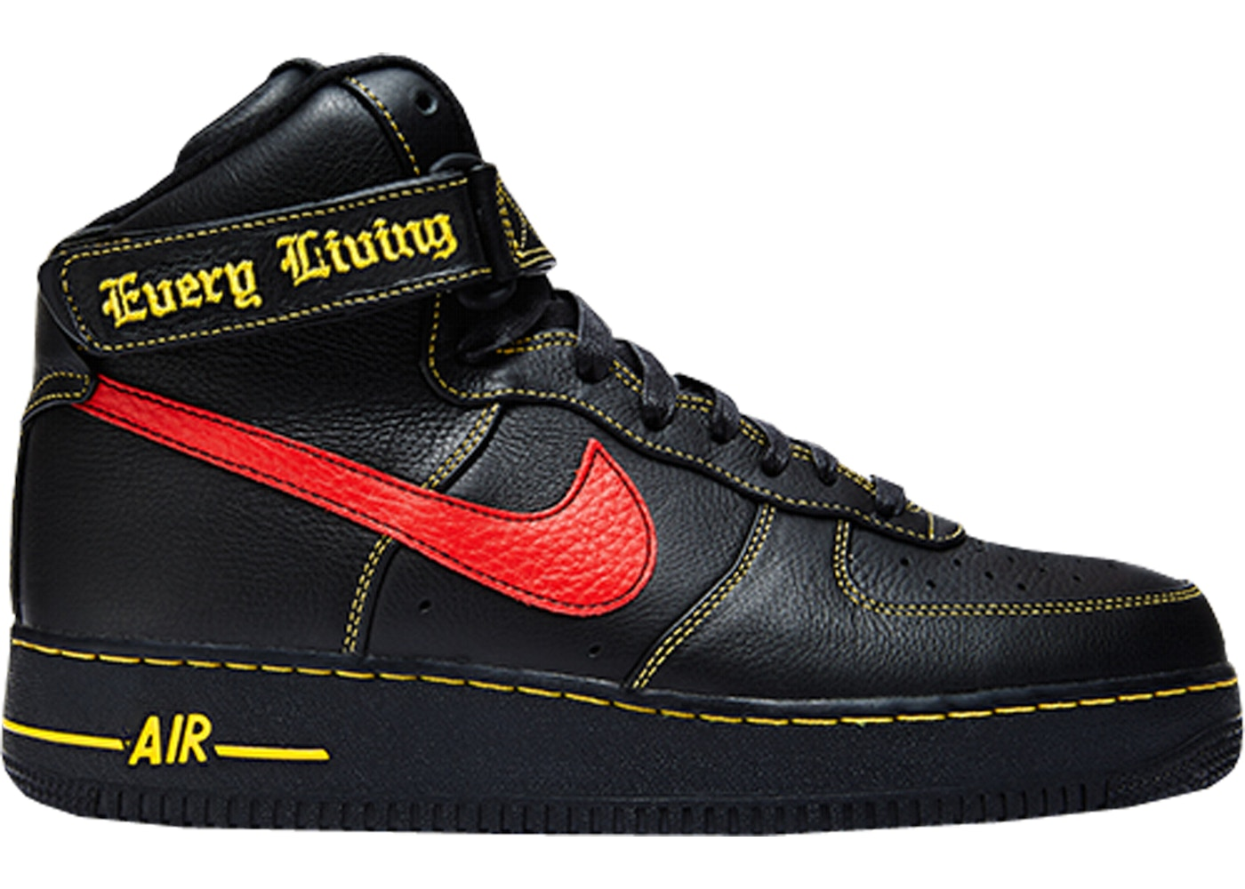 Mens Nike Air Force 1 25Th High Shoes Black Red Brown Discount