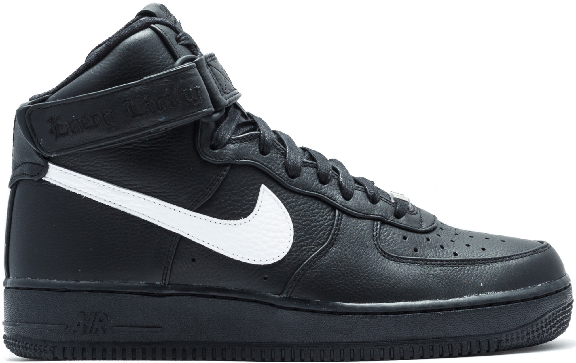 air force 1 black and white high top