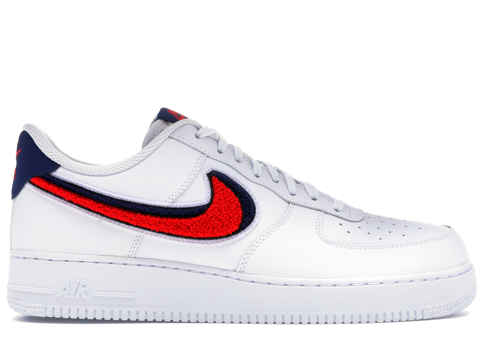 Nike Air Force 1 Low 3D Chenille White Red Blue