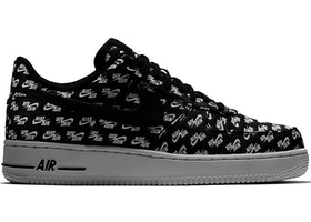 huge discount 03fc0 eb3bd Air Force 1 Low All Over Logo Black - AH8462-001