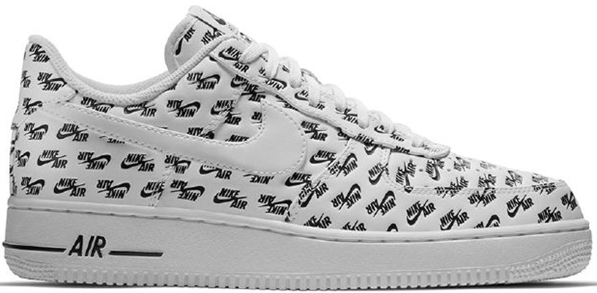Air Force 1 Low All Over Logo White
