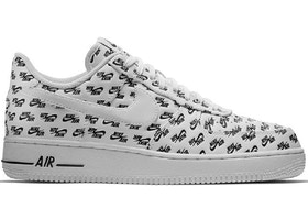 new styles 5ee43 54cd6 Air Force 1 Low All Over Logo White - AH8462-100