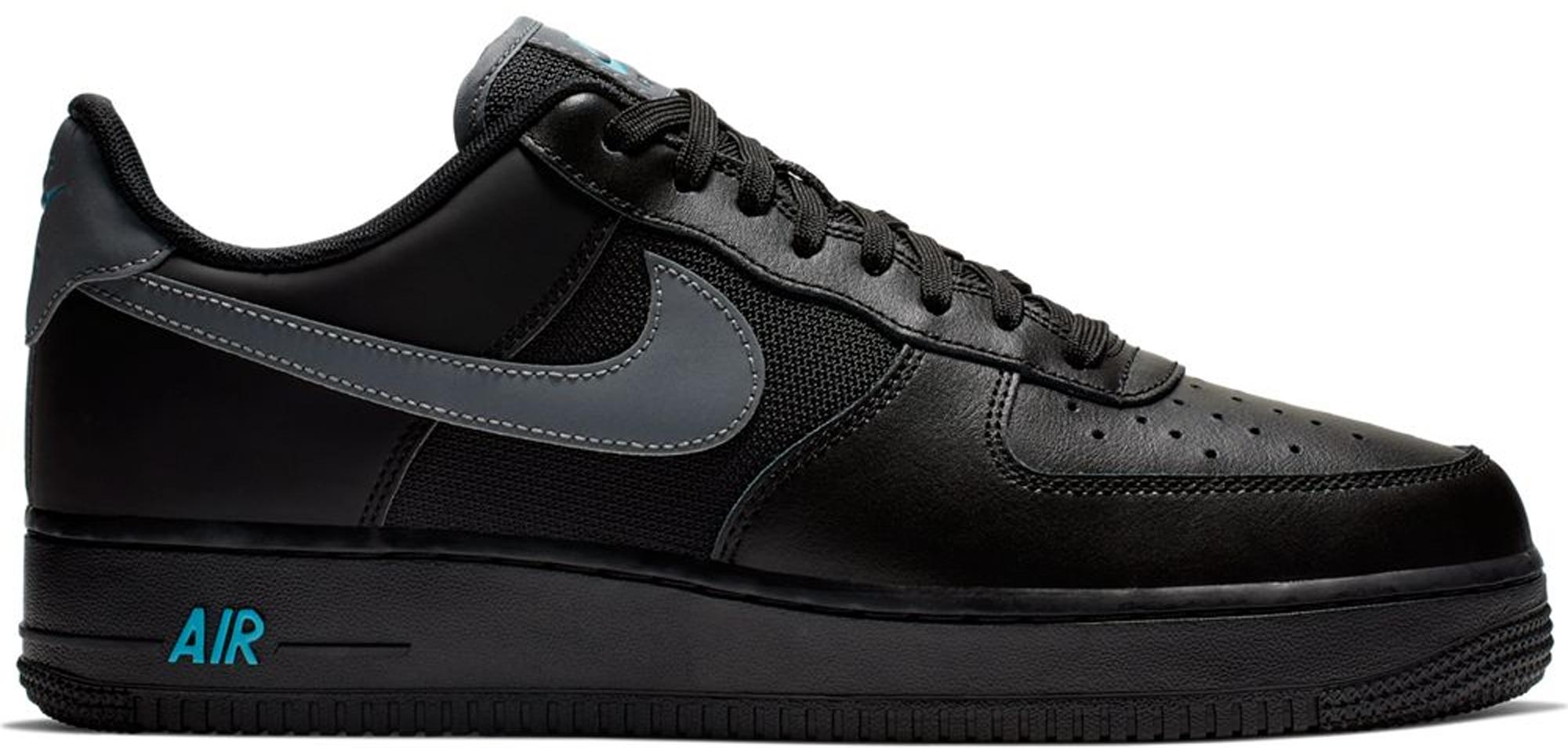 Nike Air Force 1 Low Black Blue Fury