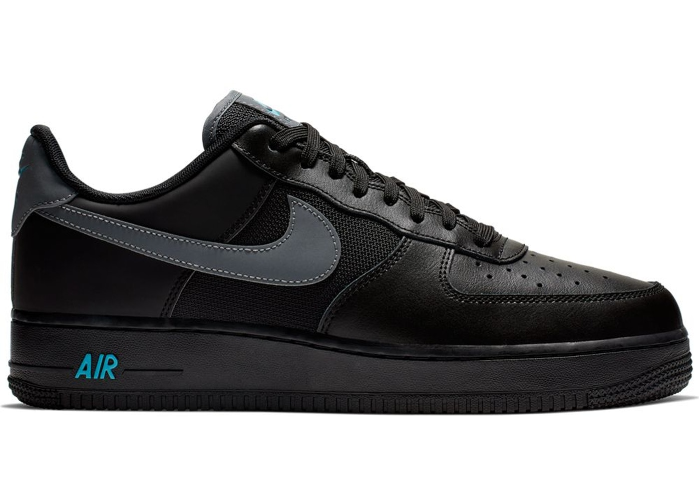 buy popular e15fe 9801c Air Force 1 Low Black Blue Fury Cool Grey