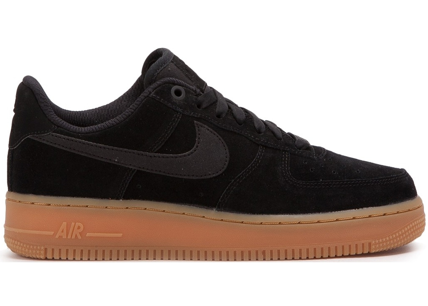 air force 1 black and gum