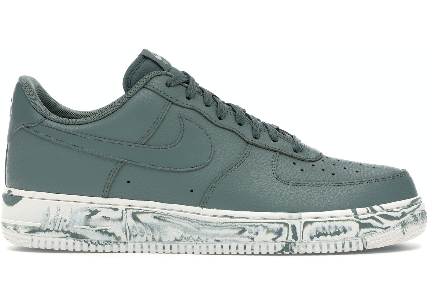 100% authentic f3228 063aa Air Force 1 Low Clay Green Marble
