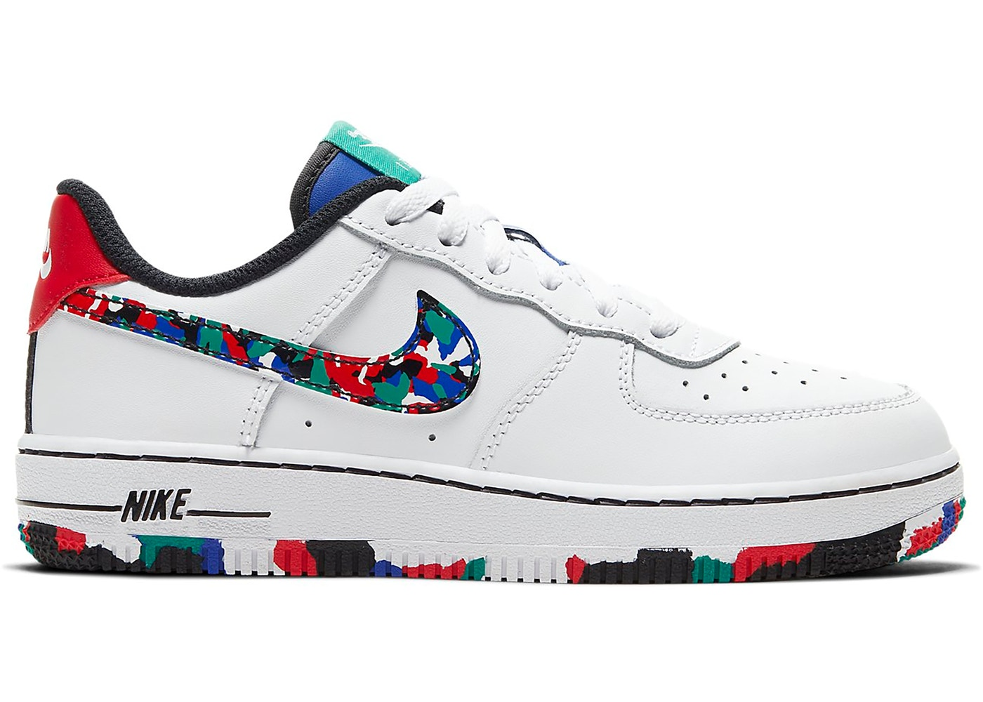 Nike Air Force 1 Low Crayon White Multi (PS)