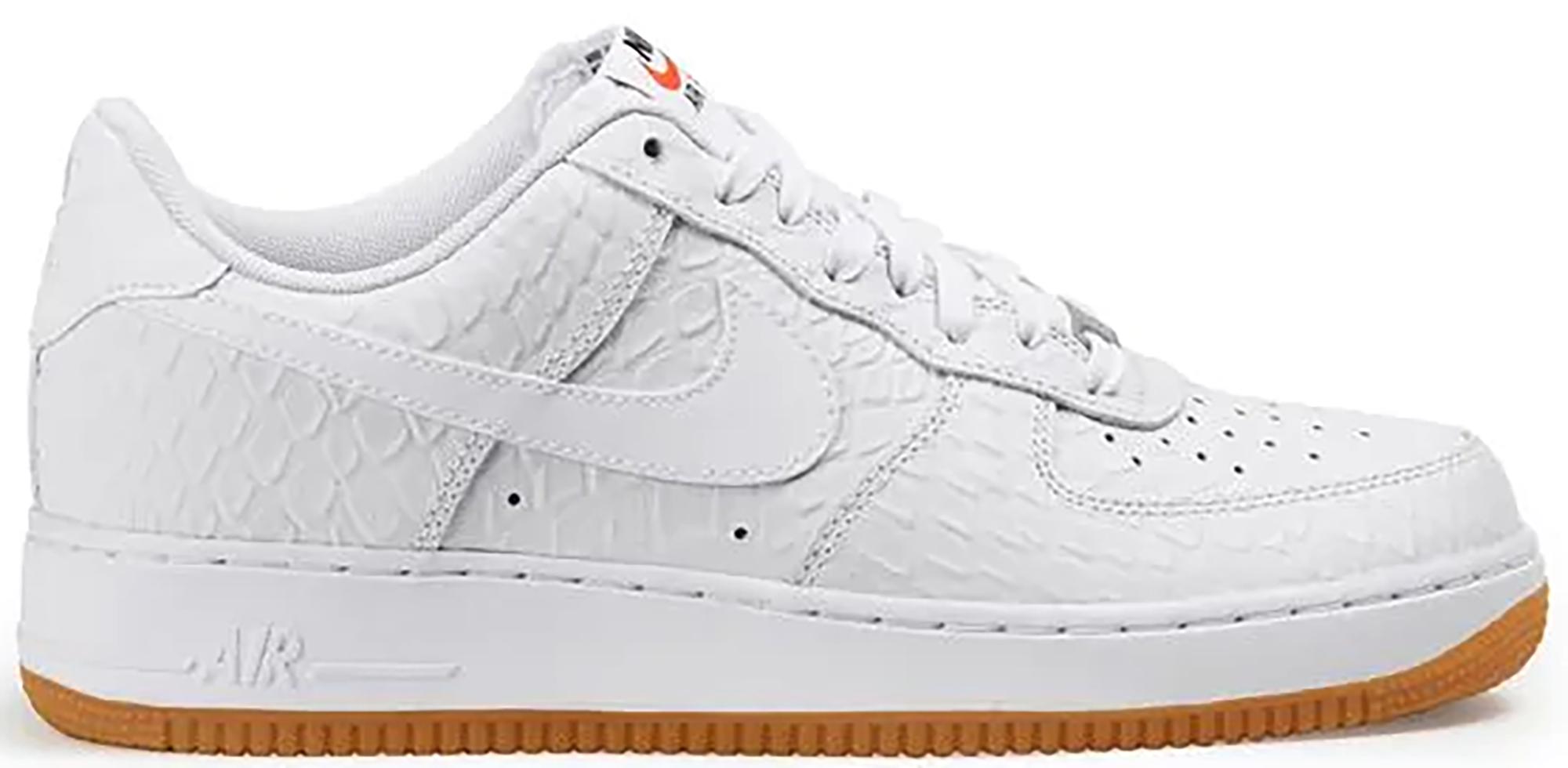 Nike Air Force 1 Low Croc Gum White