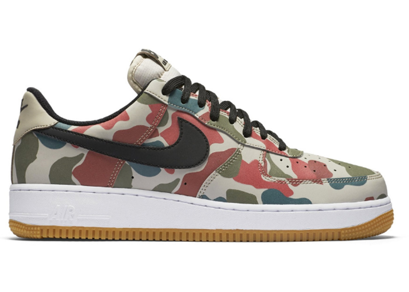 nike camo air force 1 reflective