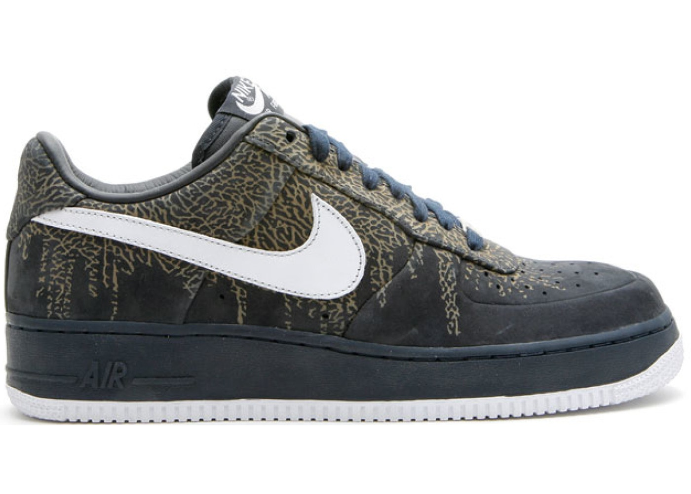 Air Force 1 Low Elephant Print Dark Obsidian 318776 411