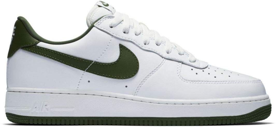 nike air force one white green