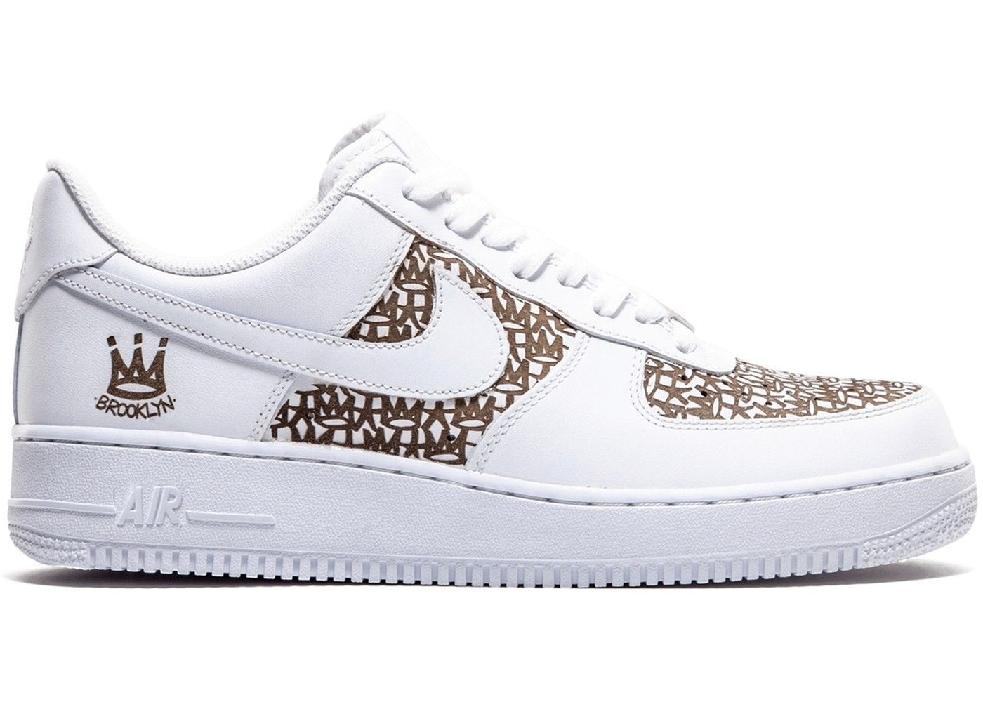 Nike Air Force 1 Low Haze NYC Laser Sneakers (White/White)