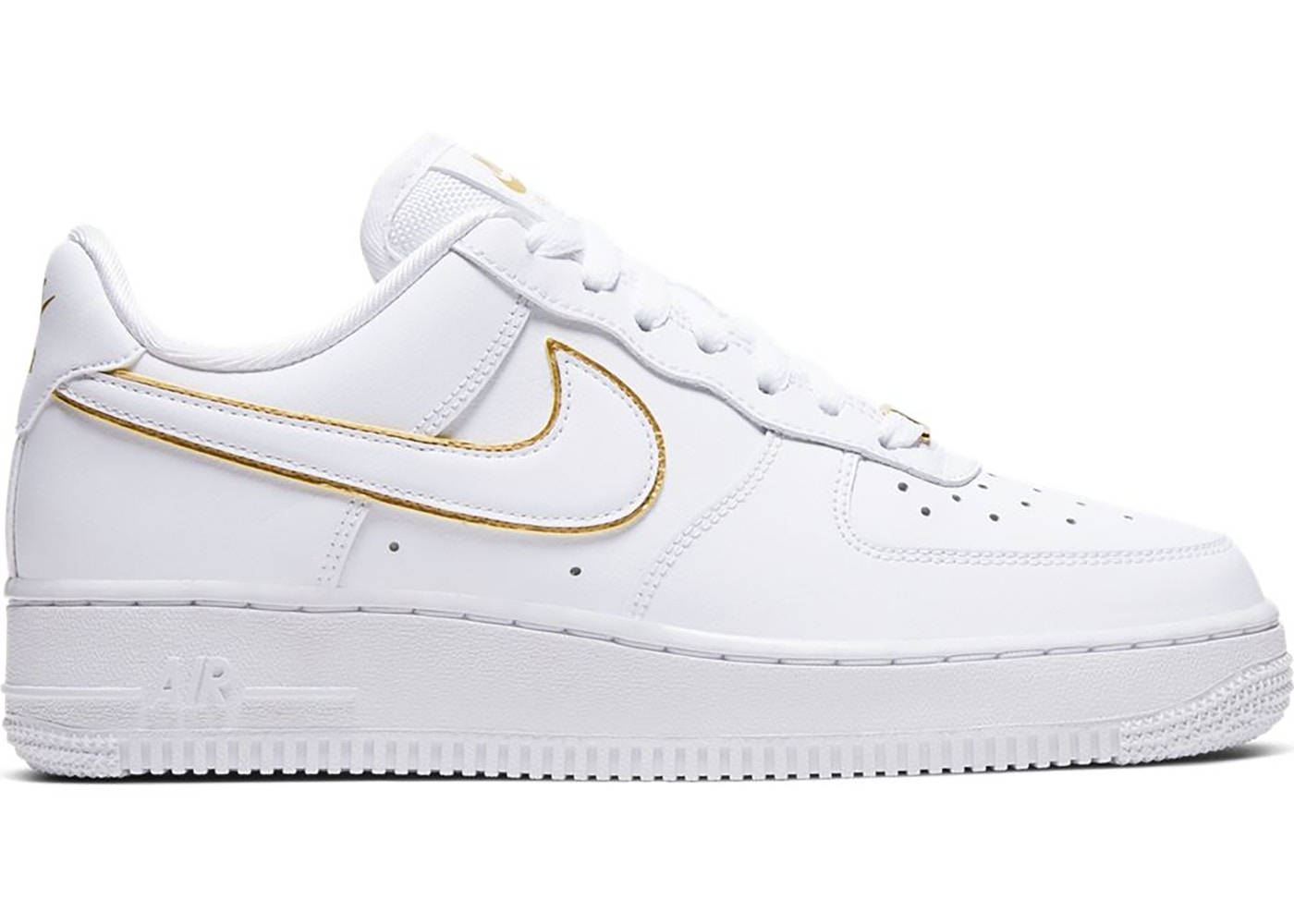 Nike Air Force 1 Low Icon Clash White Metallic Gold W Ao2132 102