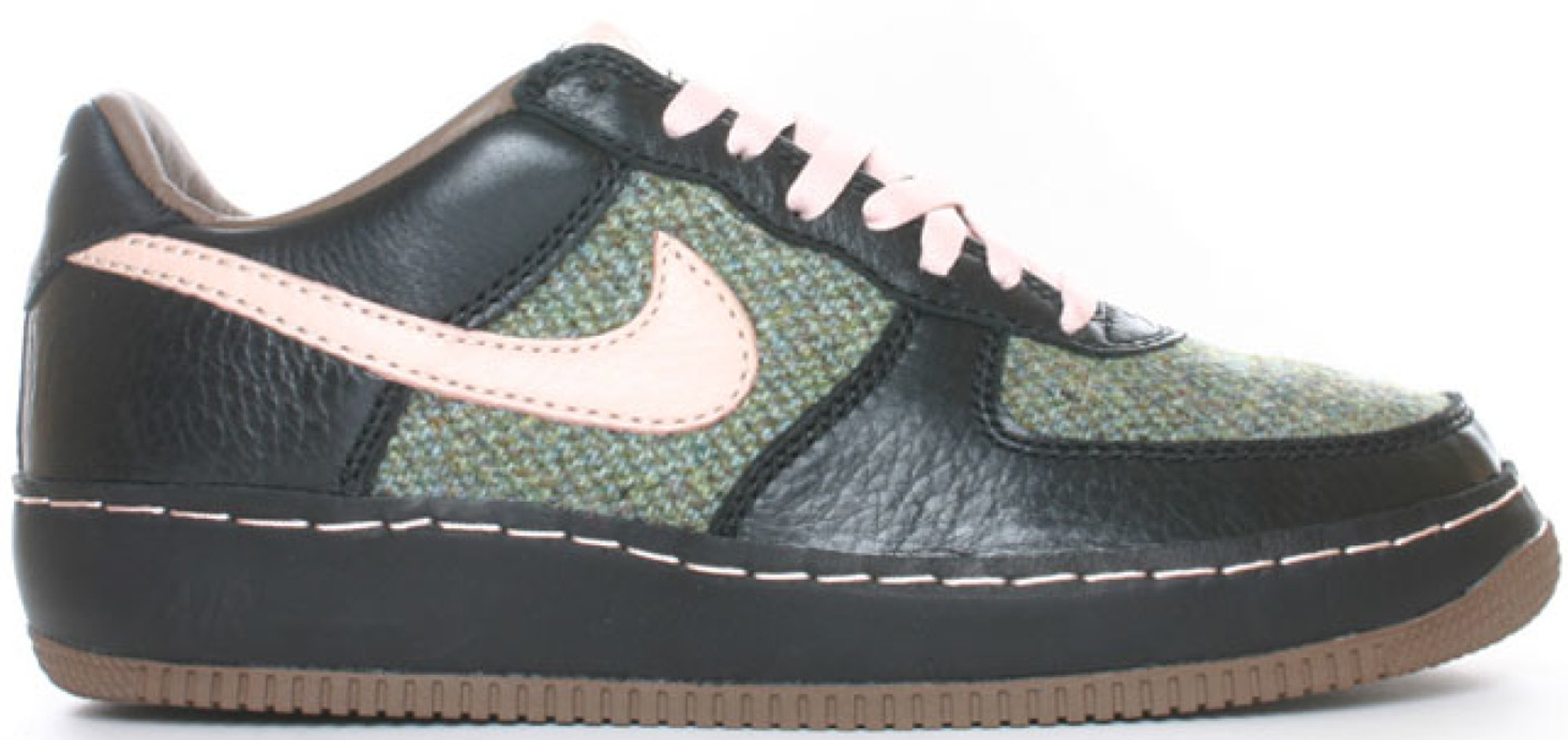 for whole family fashion style aliexpress Air Force 1 Low Insideout Tweed in Black/Cameo Rose-Classic Olive