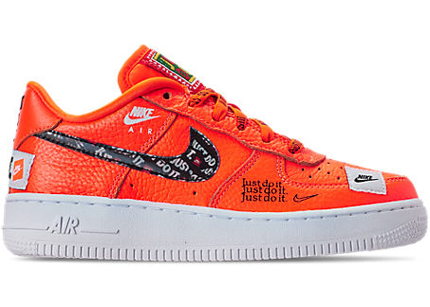 898179849b Air Force 1 Low Just Do It Pack Orange (GS) - AO3977-800