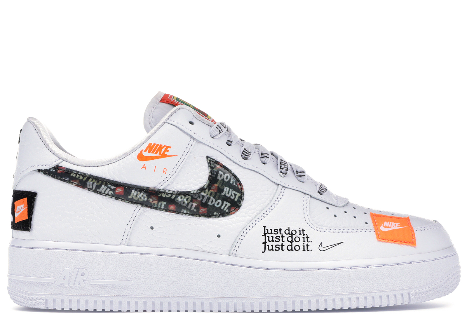 nike air force 1 07 femme blanche et orange