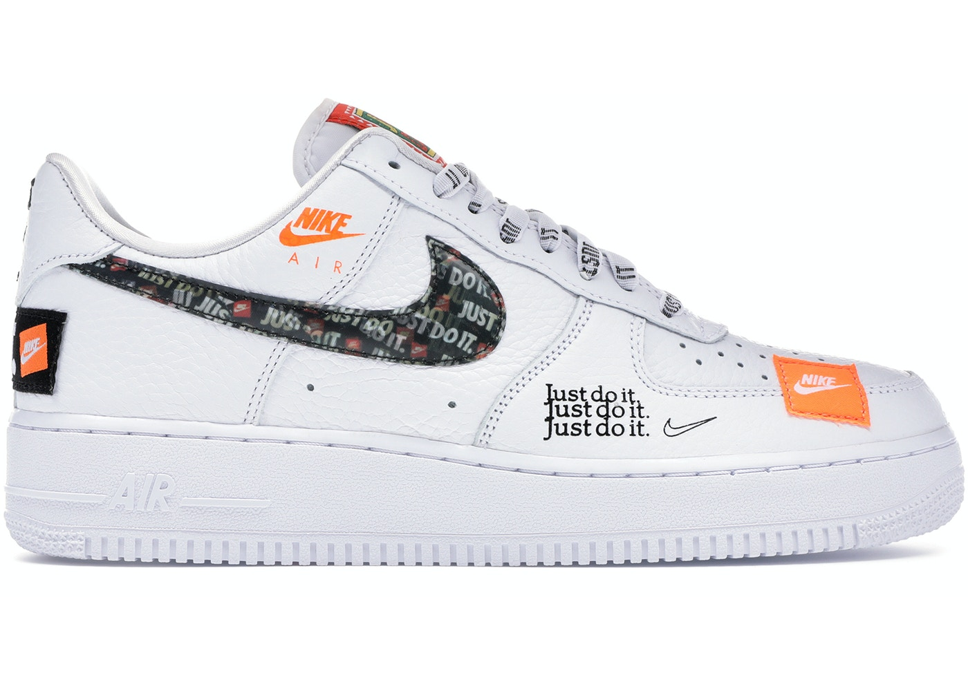first rate cedc1 68b3d Air Force 1 Low Just Do It Pack White Black - AR7719-100