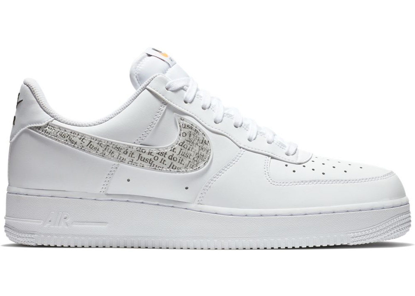 timeless design 88ae6 0f0c6 Air Force 1 Low Just Do It Pack White Clear