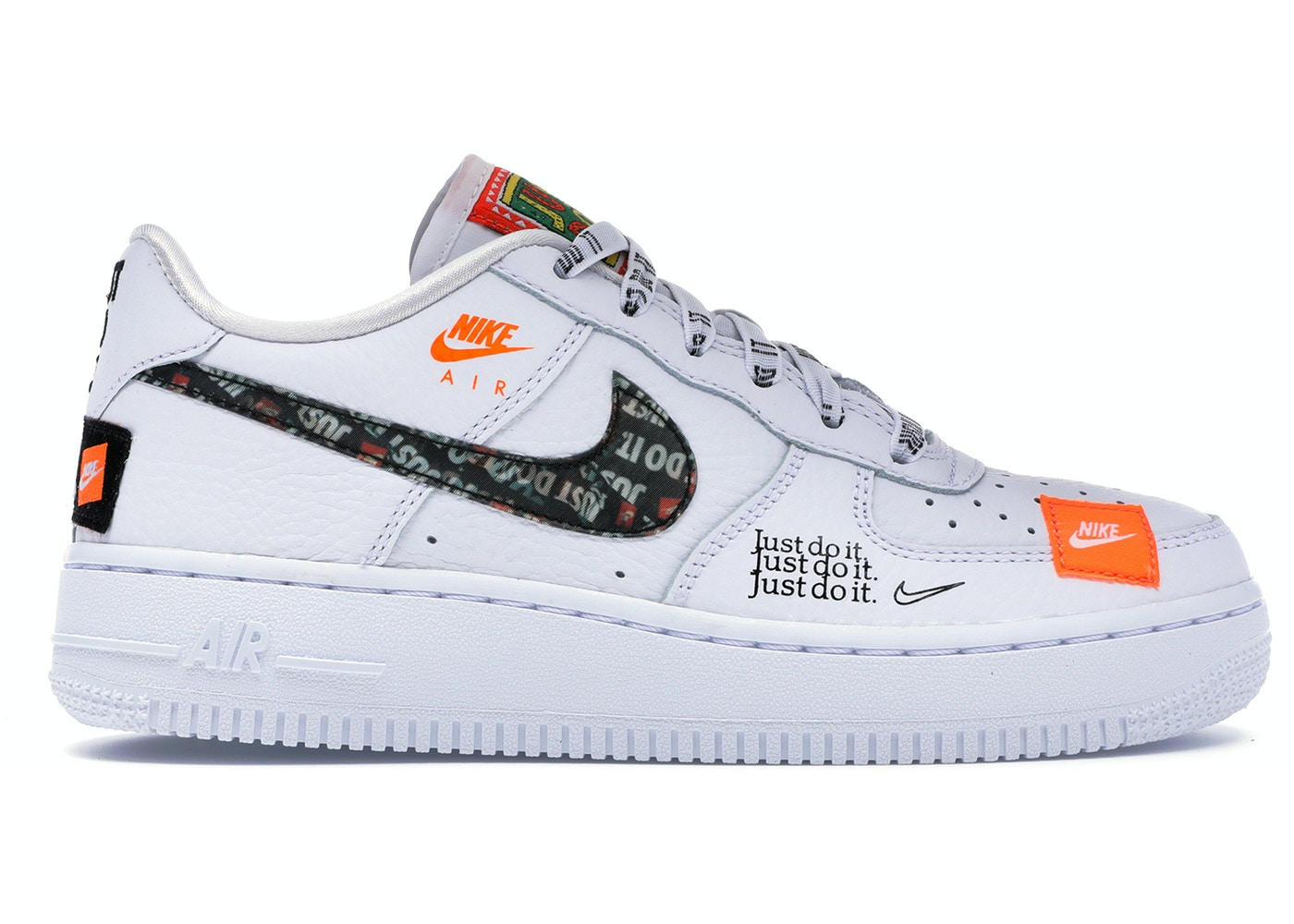 Nike Air Force 1 Low GS Nike Air Force 1 Low Just Do It Pack White (GS) - AO3977-100