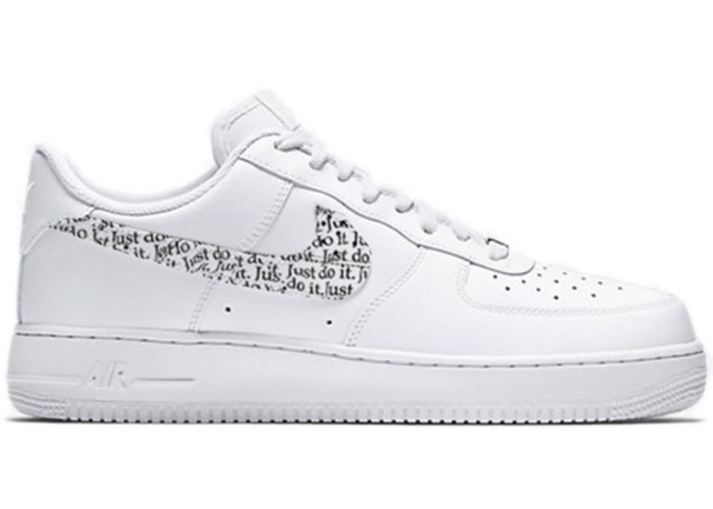 new products 0ac5a 1db9b Air Force 1 Low Just Do It Pack White