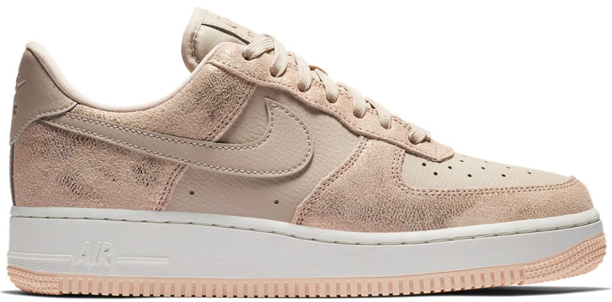 nike air force 1 beige red