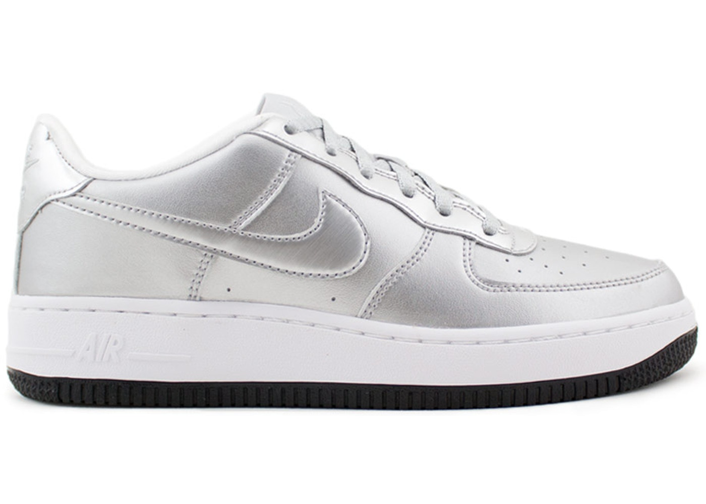 more photos 1e075 ed7aa Sell. or Ask. Size --. View All Bids. Air Force 1 Low Metallic Silver ...