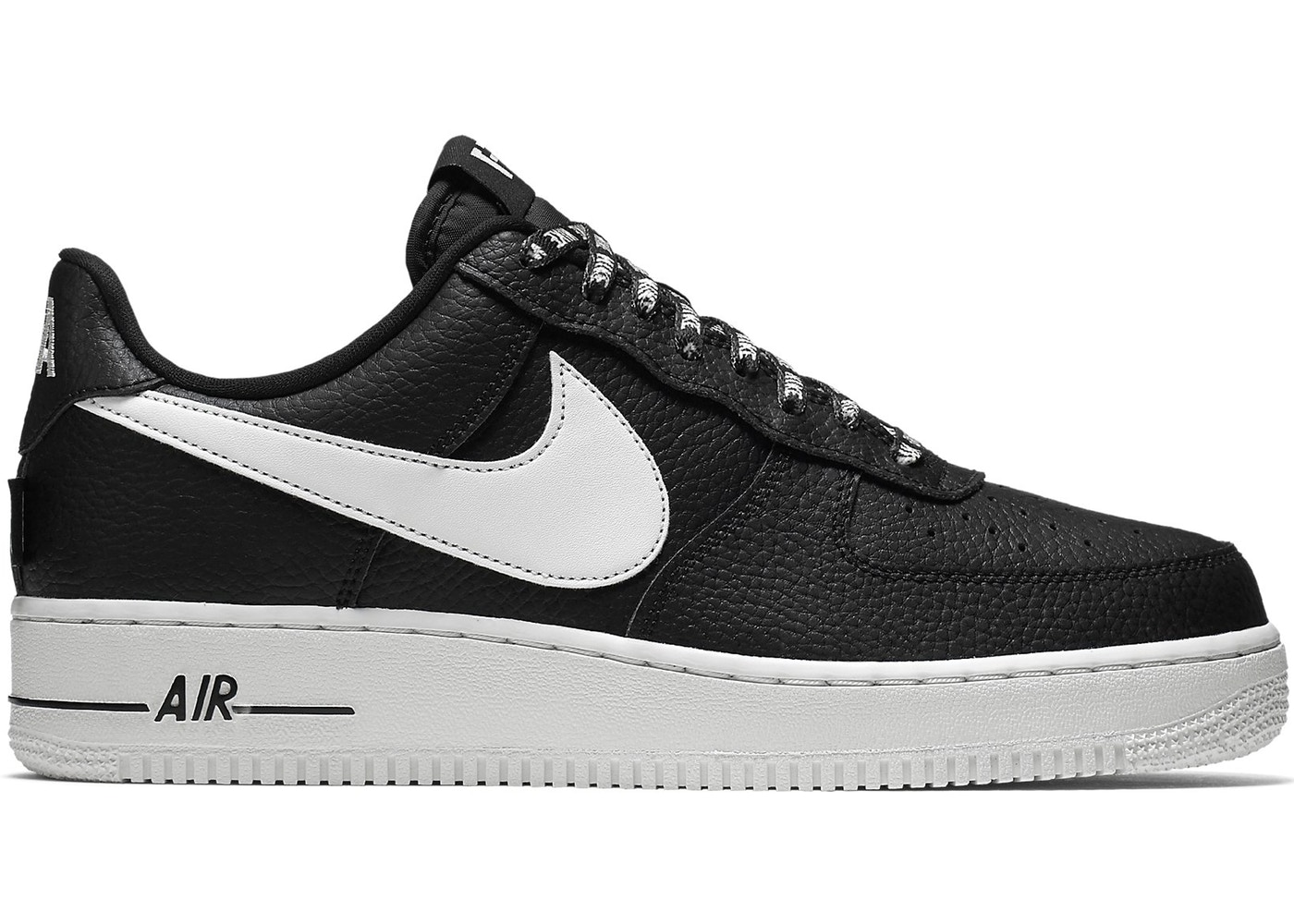 nike air force 1 black and white low