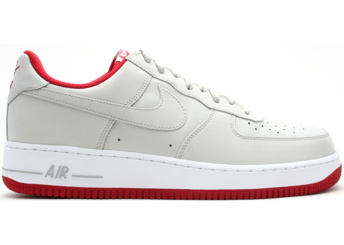 Air Force 1 Low Neutral Grey Varsity Red