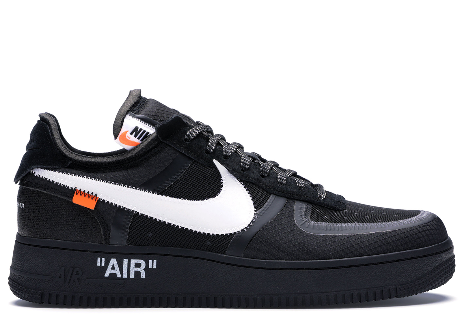 2018 Off White x Nike Air Force 1 '07 Black White Men's Size