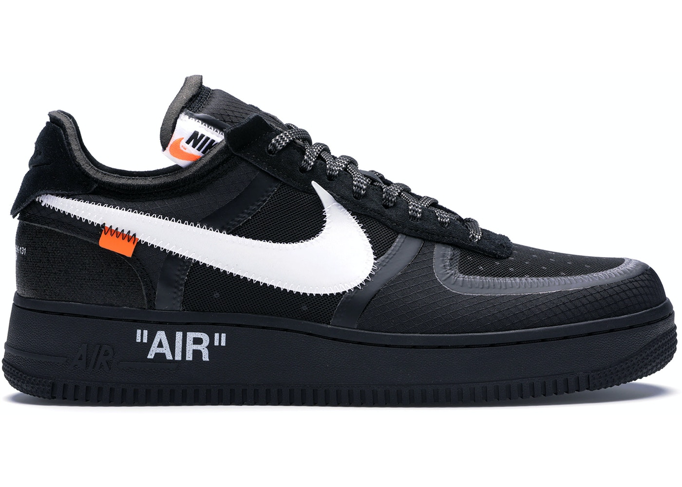b1f80b3867987 Air Force 1 Low Off-White Black White - AO4606-001