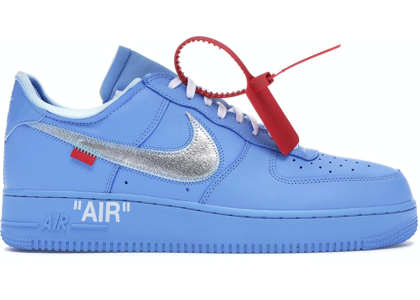 Fruncir el ceño Imperio Inca encender un fuego  Nike Air Force 1 Low Off-White MCA University Blue - CI1173-400